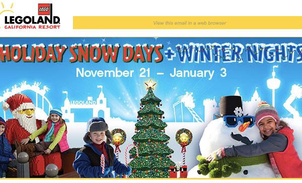 Legoland California Holiday Snow Days And Winter Nights
