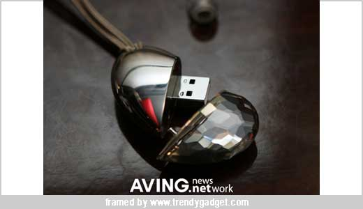 1GB USB memory key HEART WARE