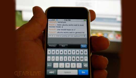 irc on iPhone