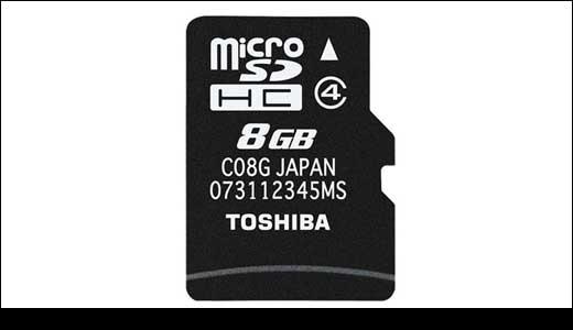 Toshiba 8GB microSDHC
