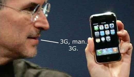 steve jobs and iphone 3g