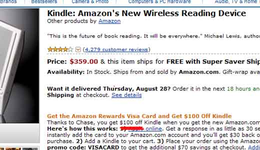kindle discount