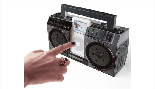 Cardboard Classics Mini Boom Box for iPod