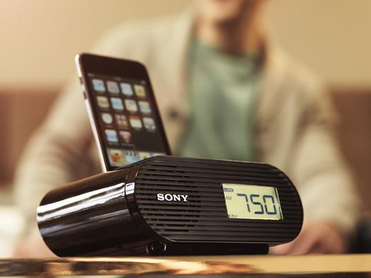 iPod dock/clock radio