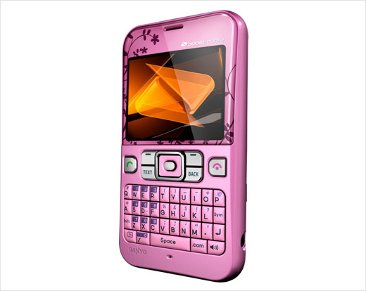 Pink and Deep Blue Sanyo Juno by Kyocera