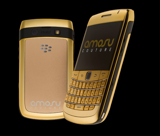 Blackberry Bold 9780 in 24 Carat Gold Plated by Amosu Couture