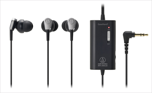 Audio-Technica ATH-ANC23 QuietPoint Active Noise-Cancelling Headphones