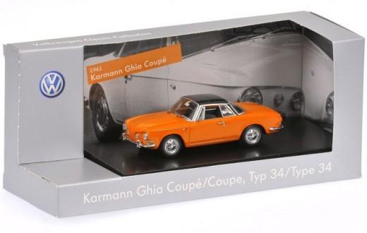 2-Karmann Ghia Coupe, Type 34, Nepal Orange (1961)