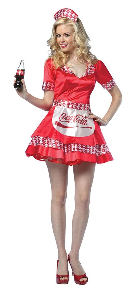 Coke Soda Girl Adult Women Sexy Costume