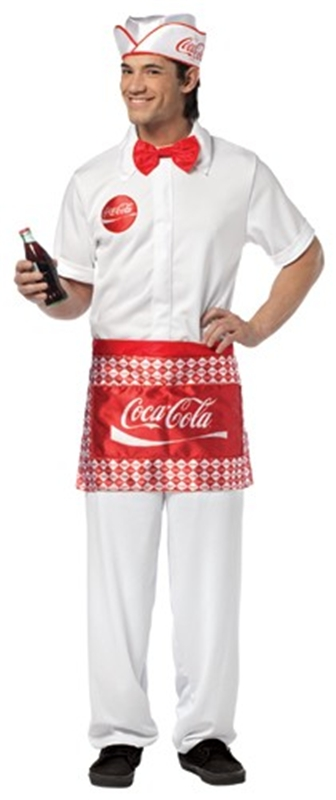 Coke Soda Jerk Adult Men Costume