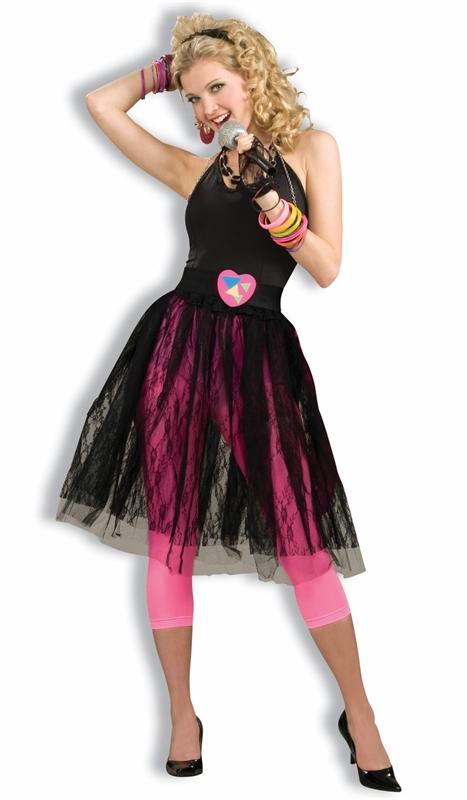 80s Pop Music Star Adult Skirt