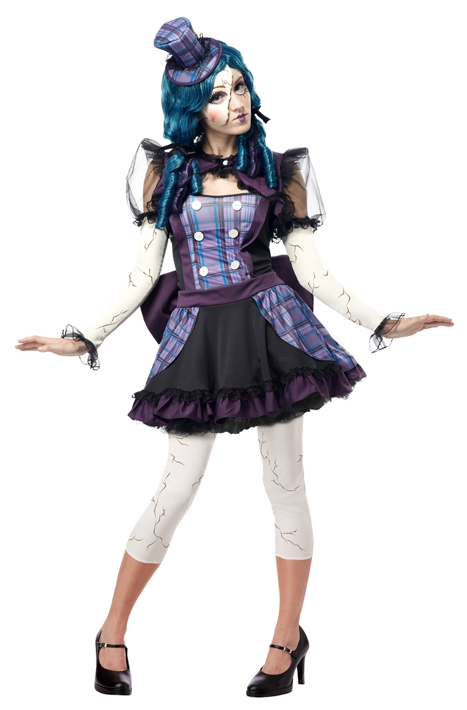 broken rag doll costume for teens
