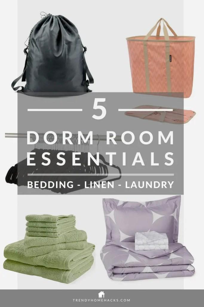 best-dorm-room-bedding-linen-laundry-essentials