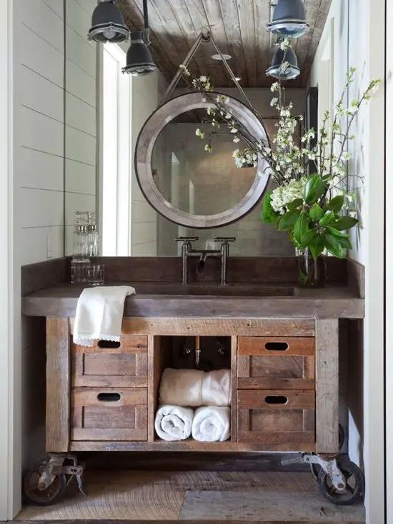 How to Get The Farmhouse Style Bathroom