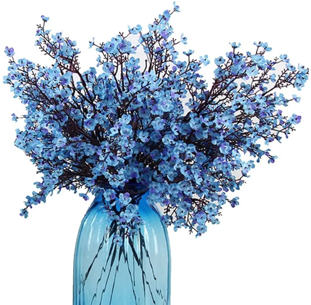 Artificial-Plants-Home-Decor-Blue-Bouquet