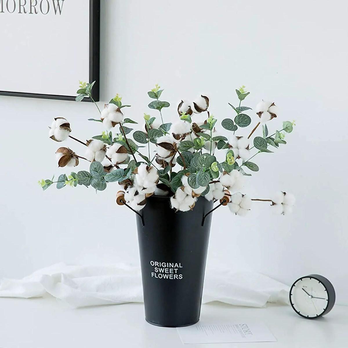 Cotton Stems farmhouse vase decor