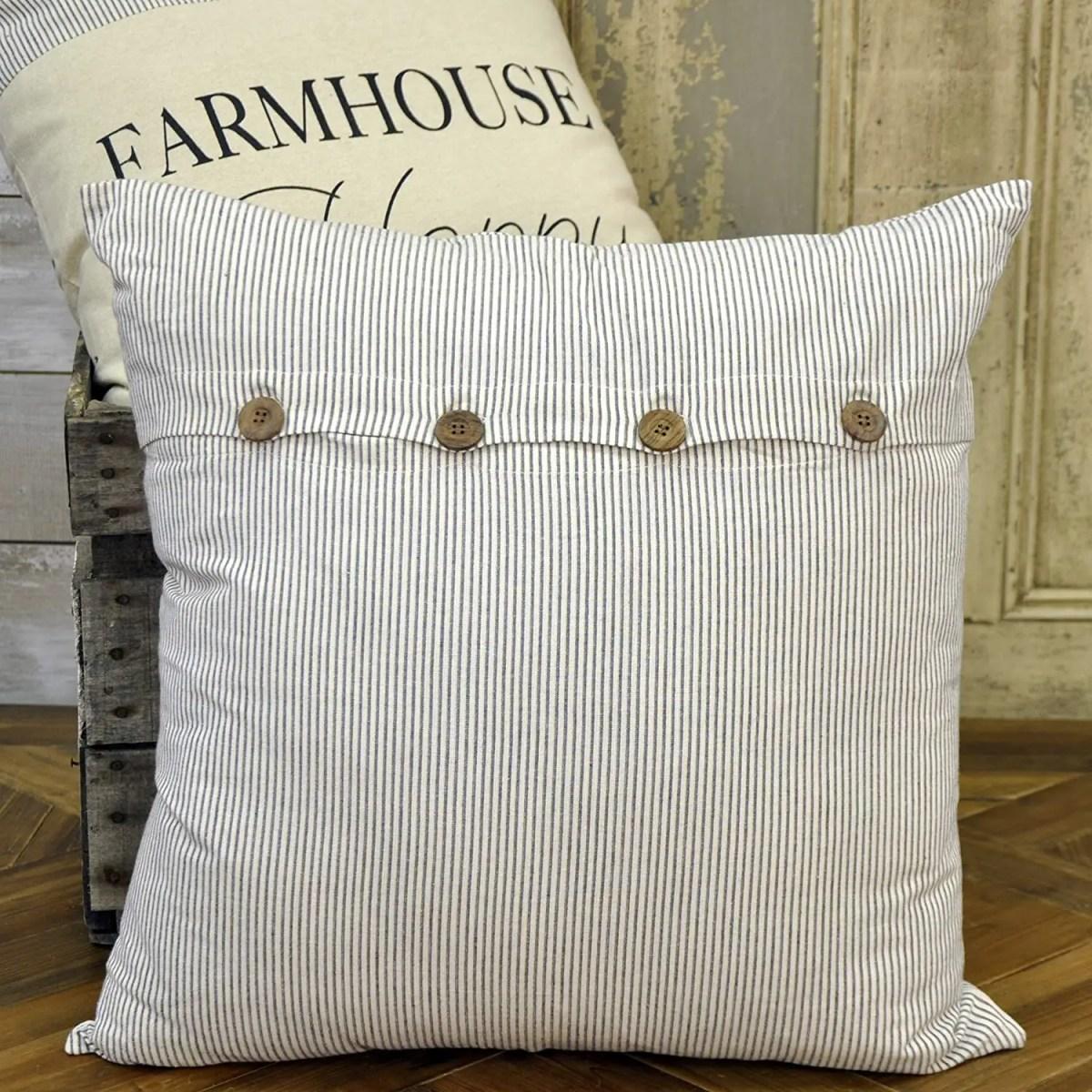 Ticking-Stripe-Farmhouse-Pillowcase