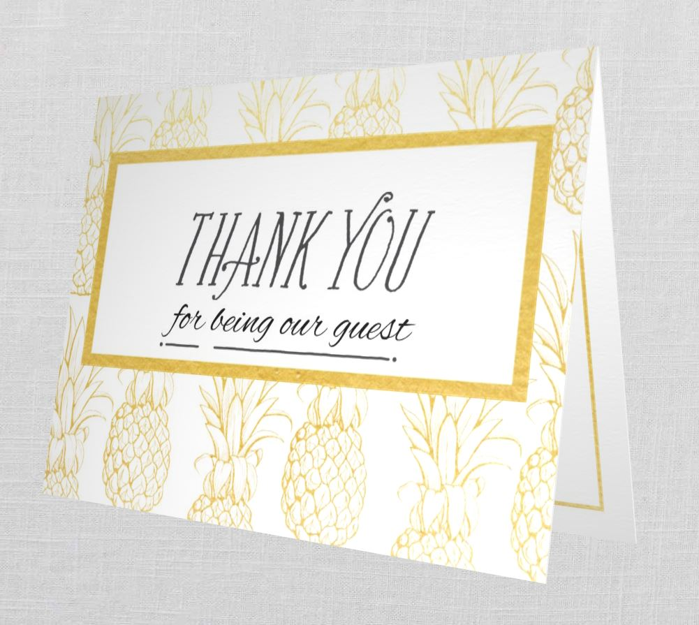 guest hospitality thank you cards  trendy hospitality