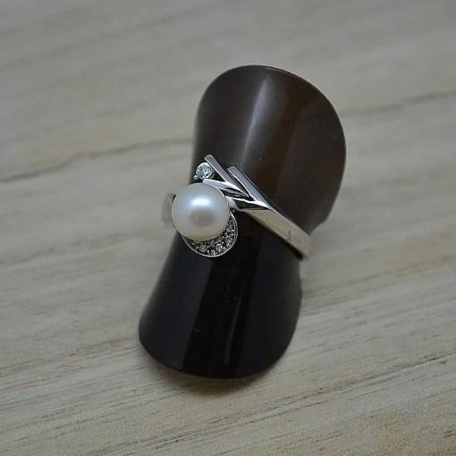 Zilveren dames ring met parel Trento Ebba online kopen | Trendy Juweeltjes