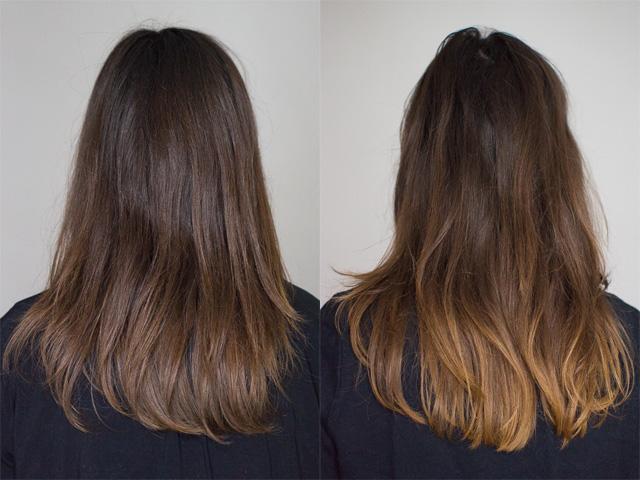 Couleur ombre cheveux long