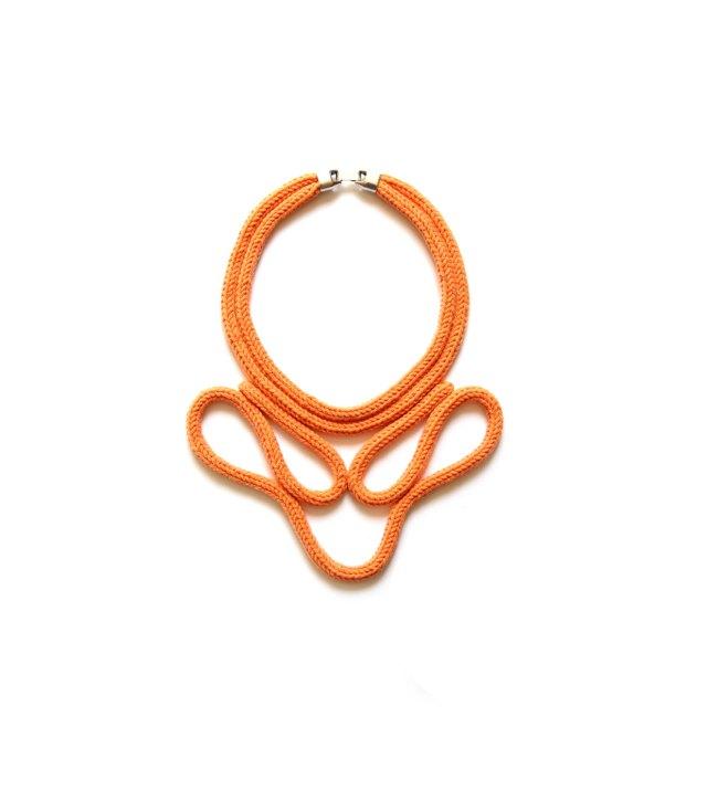 Rhizom - Collier Boucles Orange