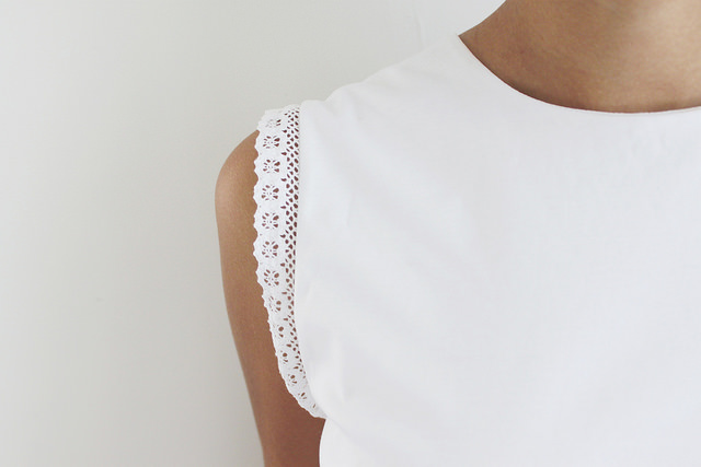 DIY Lace Trimmed Top
