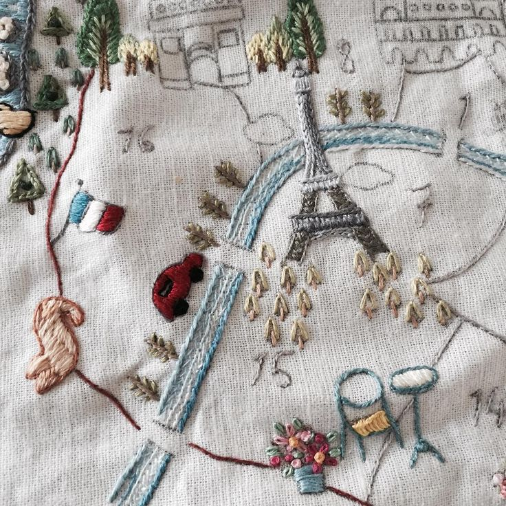 Pin Paris Embroidery