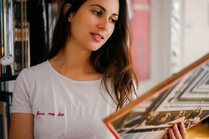 "Broderie T-shirt ""Love me do"""