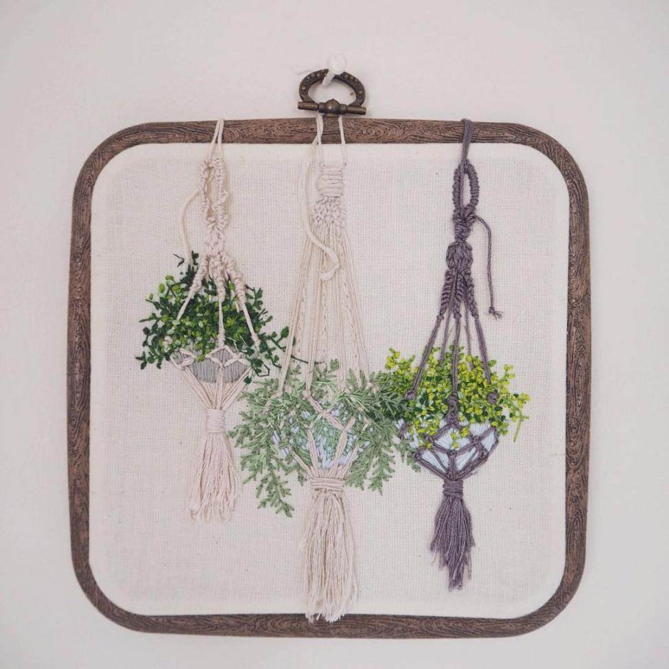 Used Threads Embroidery - Plants