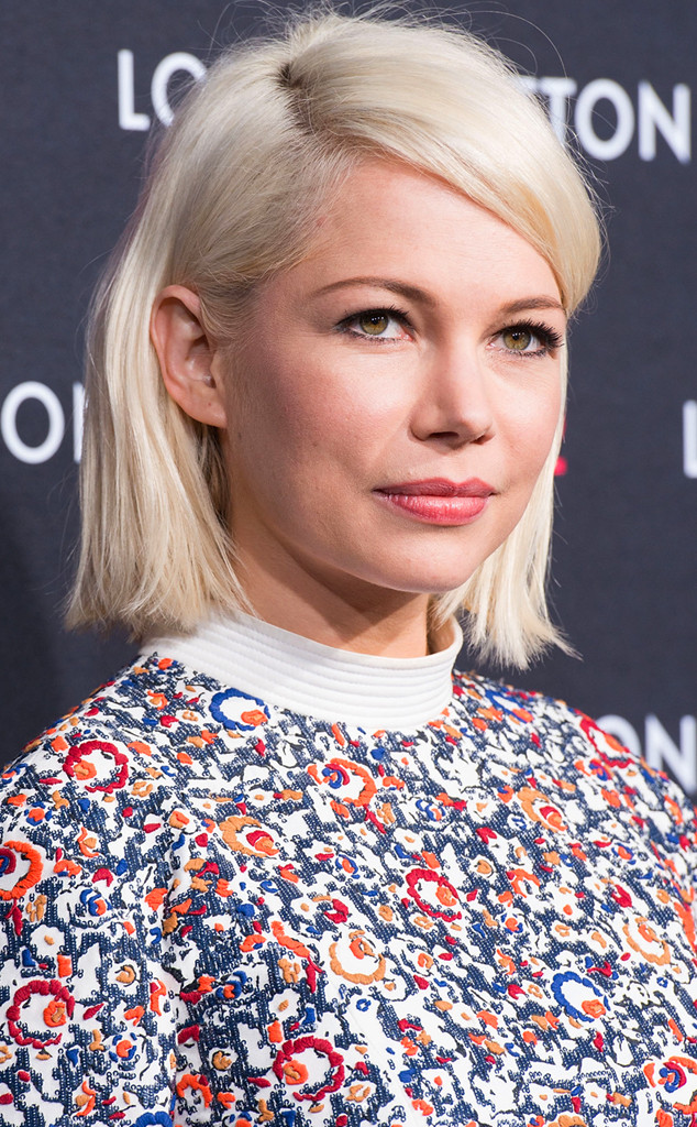 Michelle Williams - Carré mi long blond platine