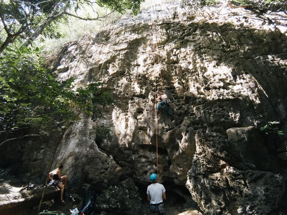 Escalade - Grimpeurs à Thakek - Laos-5