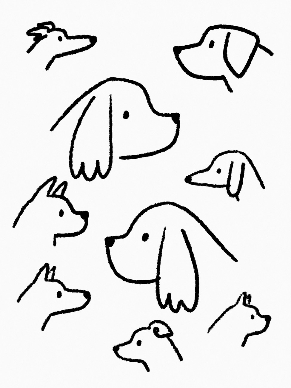 Dogs Drawing
