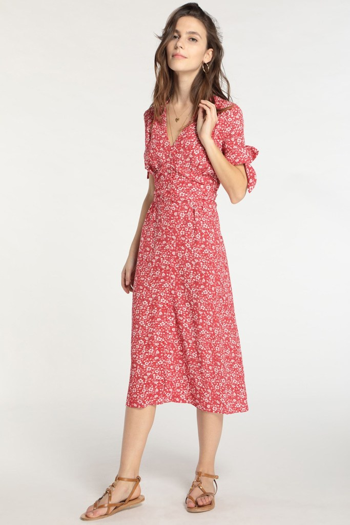 Robe Laura rouge Rouje