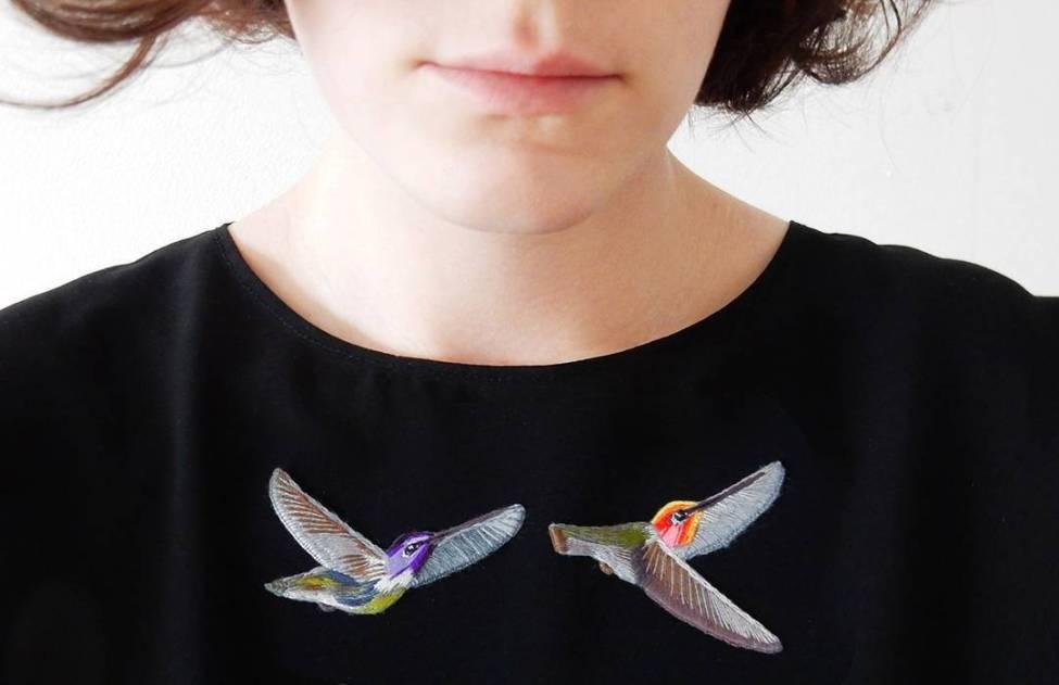 Deux broches oiseaux - Lera Petunia