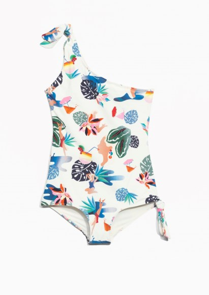 One shoulder Knot Swimsuit & Other Stories