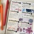 Extrait d'un bullet journal - Planifier sa semaine de travail