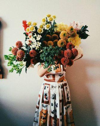 Grand bouquet de fleurs champêtre
