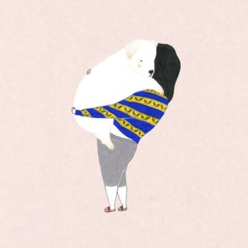Illustration chien câlin
