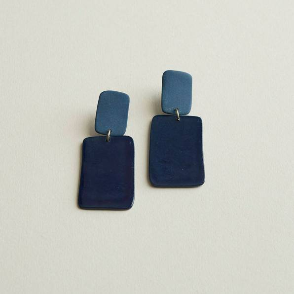 FourEyesCeramics - Boucles d'oreilles rectangle