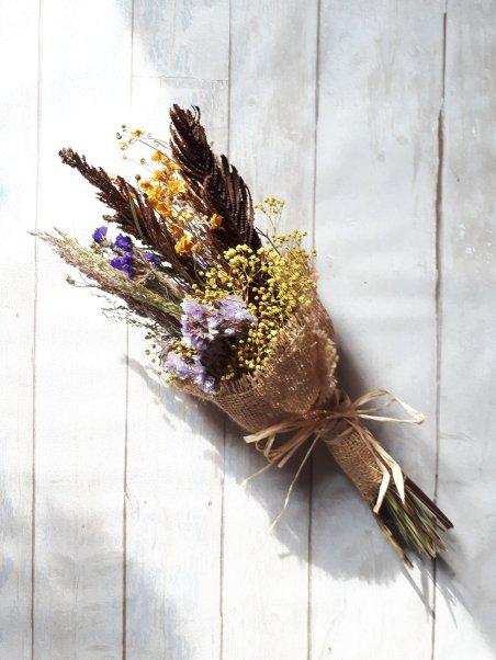 Bouquet de fleurs séchées - Etsy
