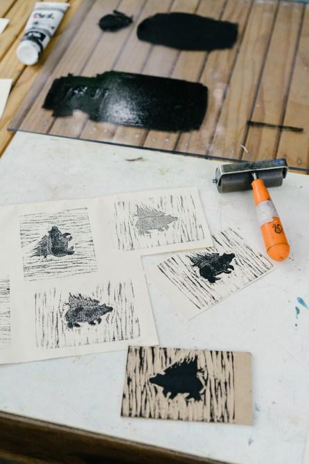 Atelier gravure sur bois