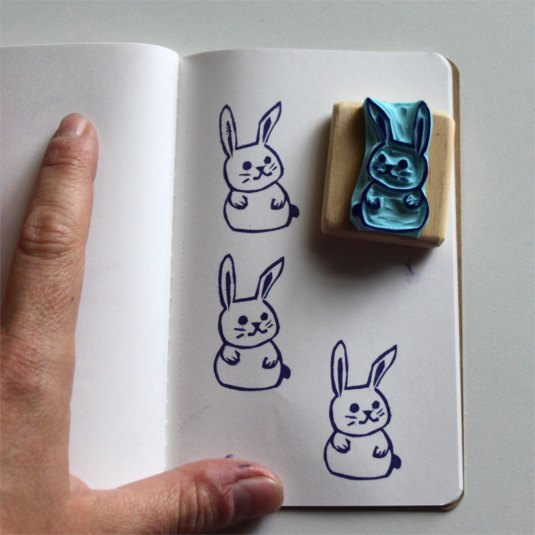 Tampon petit lapin - Etsy