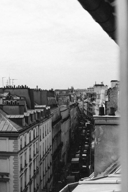 Vue de Paris - Toits parisiens - Photographie Noir et Blanc