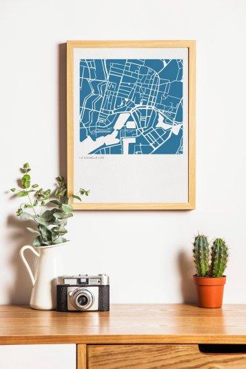 Carte en paper art - Vert Cerise