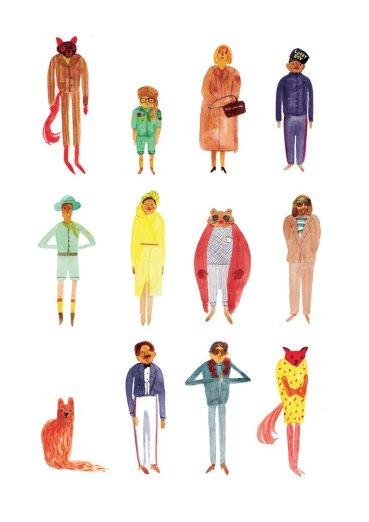 Illustration Wes Anderson - Marion Barraud