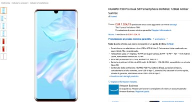 Huawei P30 Pro su Amazon a 1024€ – Androidworld