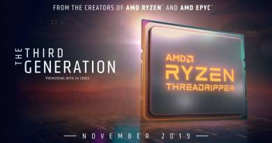 Ryzen Threadripper 3960X, 3970X e 3990X svelati il 5 novembre?
