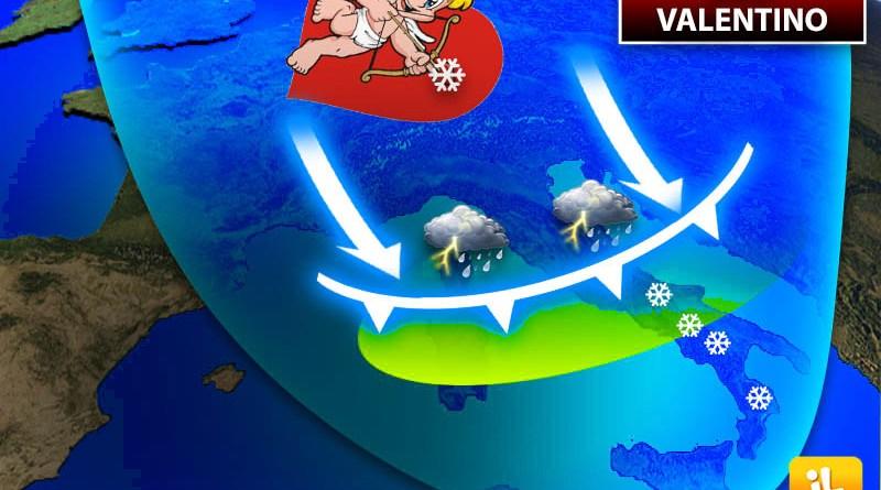 Meteo: SAN VALENTINO, Veloce Incursione FREDDA sulla Festa degli Innamorati, MALTEMPO in arrivo. Ecco DOVE