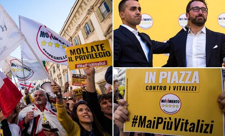 M5S in piazza contro i vitalizi. Conte vede Mattarella al Quirinale