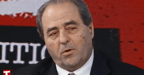 """Antonio Di Pietro a Tagadà: """"Non si va a votare, gli si secca il ditino quando c'è da andare a casa"""""""